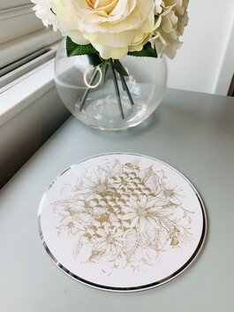 Bee Honeycomb Candle Plate
