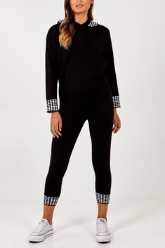 Houndstooth Detailed Loungewear Set