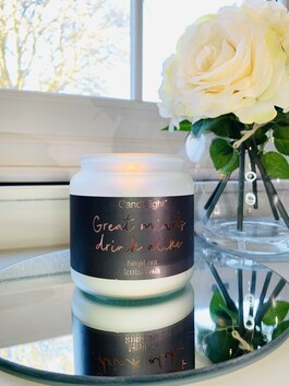 'Great Minds Drink Alike' Candle - Midnight Rose Scent