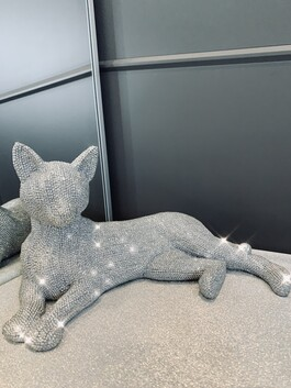 Sparkly Diamante Cat Lying