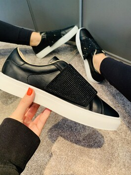 Diamante Trainers in Black