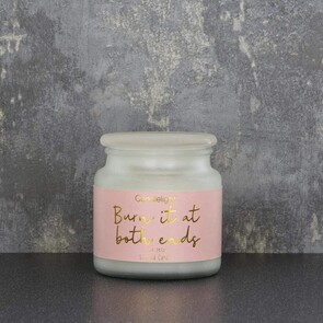 'Burn It At Both Ends' Candle - Pink Petal Scent