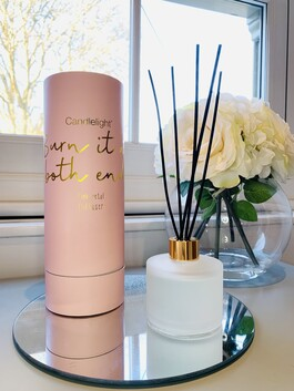 'Burn It At Both Ends' Diffuser - Pink Petal Scent